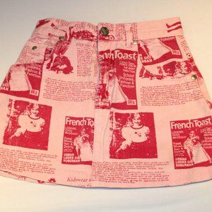 Pink Printed French Toast Kids Skirt